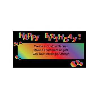 Birthday Rainbow Custom Banne (Variety of Sizes)