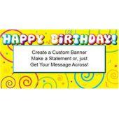 Birthday Swirls Custom Banner