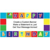 Birthday Squares Custom Banner