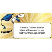 Graduation Star Burst Custom Banner