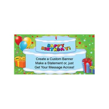 Birthday Cake Custom Banner