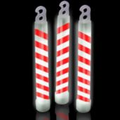 "Candy Cane Swirl 6"" Glow Sticks - 25 Pack"