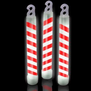 Candy Cane Swirl Glow Sticks - 6 Inch, 25 Pack