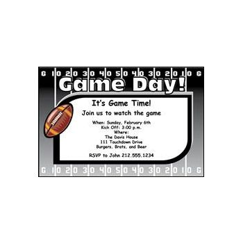 Big Game Day Personalized Invitations