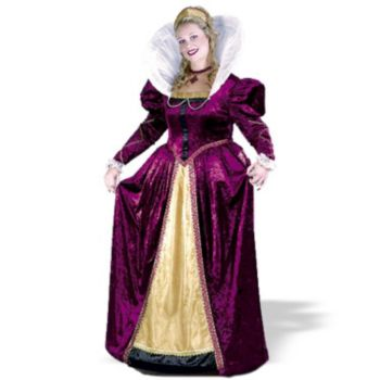 Elizabethian Queen Plus Adult Costume