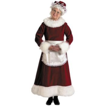 Mrs. Claus Dress Adult Plus Costume