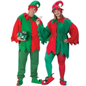 Elf TunicHatShoe Costume Kit Plus Adult Costume