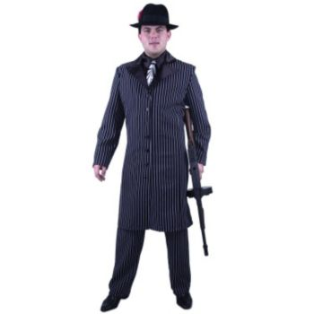 Gangster Suit Long Jacket Plus  Adult Costume