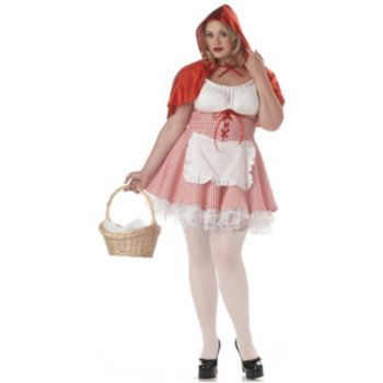 Lacey Red Riding Hood Adult Plus Costume