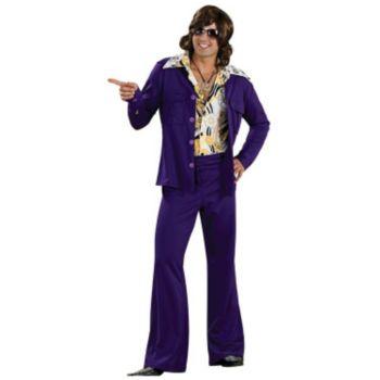 Purple Leisure Suit Deluxe Adult Costume