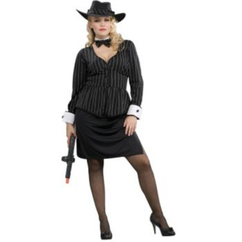 Gorgeous Gangster Adult Plus Costume