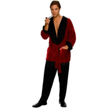 Playboy Men's Smoking Jacket Adult Plus Costume