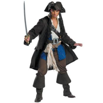 Pirates of the Caribbean 3 Captain Jack Sparrow Prestige Adult (2007) Costume