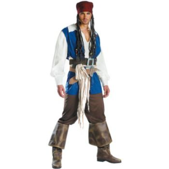 Pirates of the Caribbean 3 Captain Jack Sparrow Quality Adult (2007) Costume