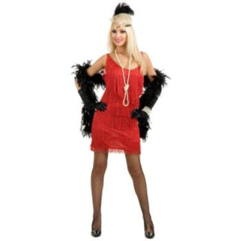 Fashion Flapper (Red) Plus Adult Costume