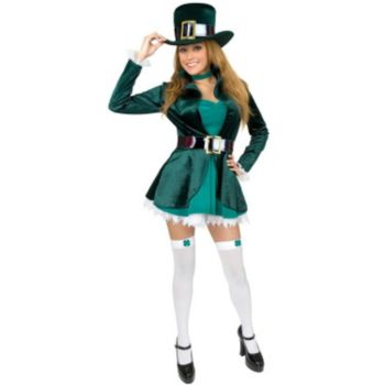 Sexy Leprechaun with Hat Plus Adult Costume