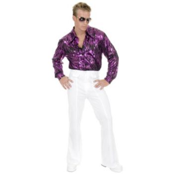 White Disco Pants Adult