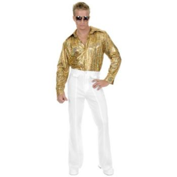 White Disco Pants Plus Adult