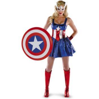 Captain America Sassy Deluxe Adult Costume