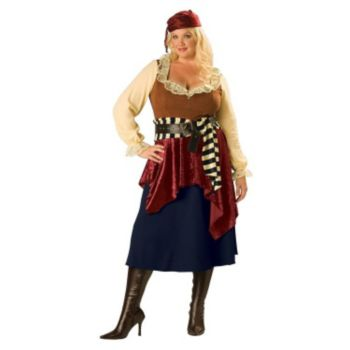 Adult Plus Classic Lady Pirate Costume