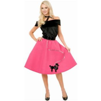 Poodle Skirt, Top & Scarf Adult Costume