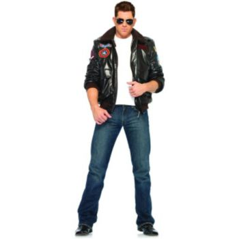 Top Gun Men's Bomber Jacket Set Adult Costume