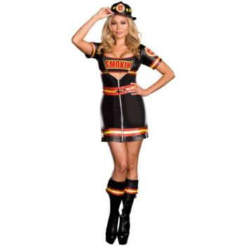 Smokin' Hot Fire Department Woman Plus Adult Costume