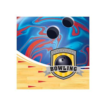 BOWLING PARTY BEVERAGE NAPKINS