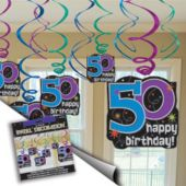 50th Birthday Swirls Value Pack