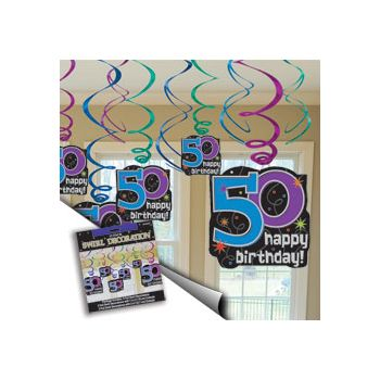 50th BIRTHDAY SWIRL VALUE PACK
