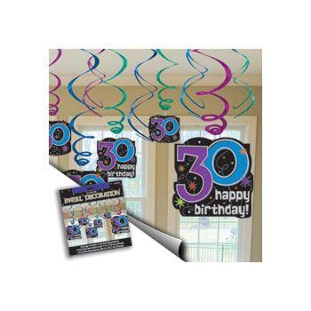 30th BIRTHDAY SWIRL VALUE PACK