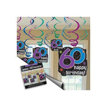 60th BIRTHDAY SWIRL VALUE PACK
