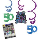 50th Birthday Swirls-30 Pack