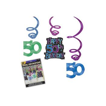 50th BIRTHDAY SWIRL MEGA PACK