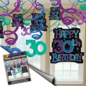 30th Birthday Swirl Decorations-30 Pack