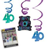 40th Birthday Swirls-30 Pack