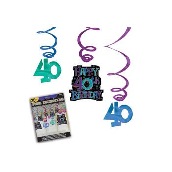 40th BIRTHDAY SWIRL MEGA PACK