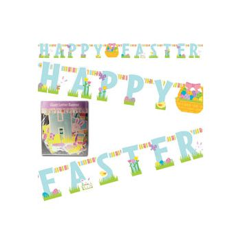 HAPPY EASTER LETTER BANNER