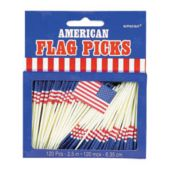 Patriotic Flag Picks-120 Pack