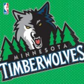 Minnesota Timberwolves Lunch Napkins - 16 Pack