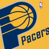 Indiana Pacers Lunch Napkins - 16 Pack
