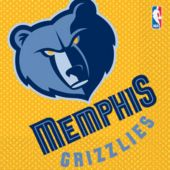Memphis Grizzlies Lunch Napkins - 16 Pack