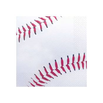 BASEBALL FAN BEVERAGE NAPKINS
