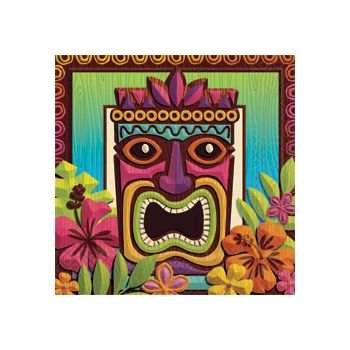 Tropical Tiki Beverage Napkins 125 per pack