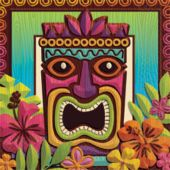 Tropical Tiki Lunch Napkins