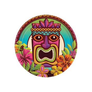 "Tropical Tiki 7"" Plates 60 per pack"