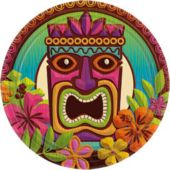 "Tropical Tiki 9"" Plates - 60 Pack"