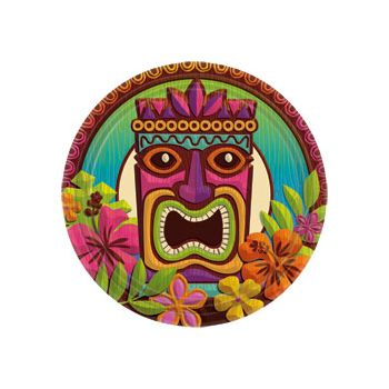 "Tropical Tiki 9"" PLATES  60 per pack"