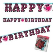 Rocker Girl Birthday Banner