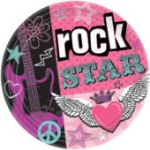"Rocker Girl 7"" Plates - 8 Pack"